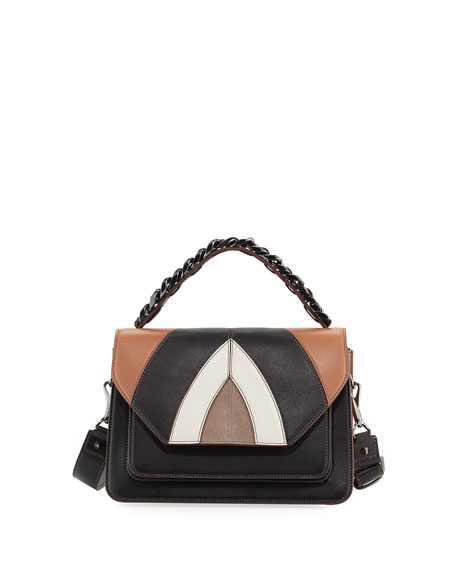 Elena Ghisellini Eclipse Medium Colorblock Shoulder Bag