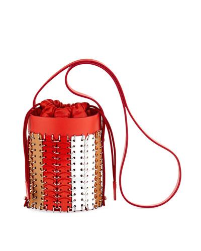14#01 Chain-Link Colorblock Mini Bucket Bag