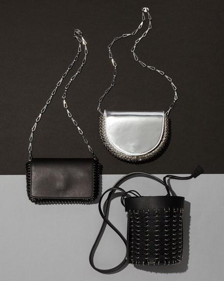 14#01 Chain-Link Mini Bucket Bag, Black