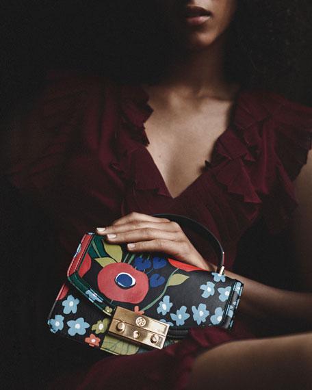 Juliette Printed Mini Top Handle Bag, Darling Floral