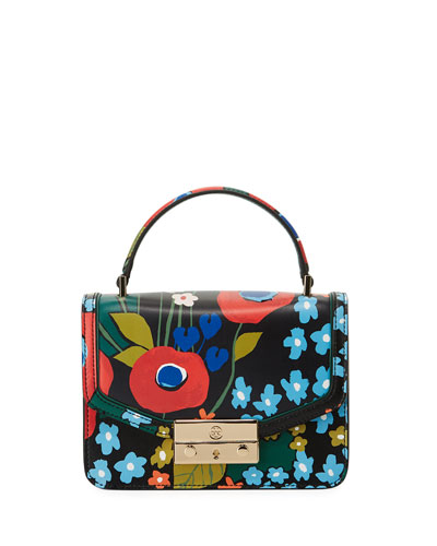 Juliette Printed Mini Top Handle Bag, Darling Floral