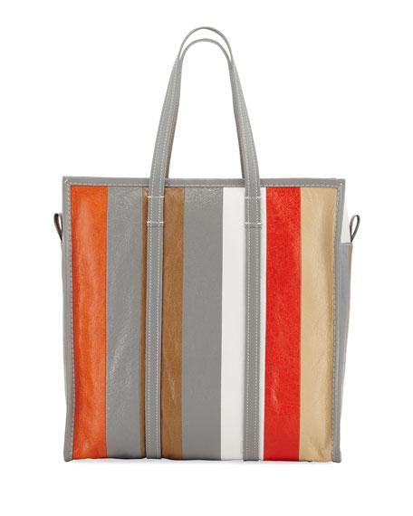 Bazar Shopper Medium Striped Leather Tote Bag