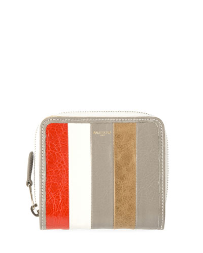 Bazar Striped Billfold Zip-Around Wallet, Multi
