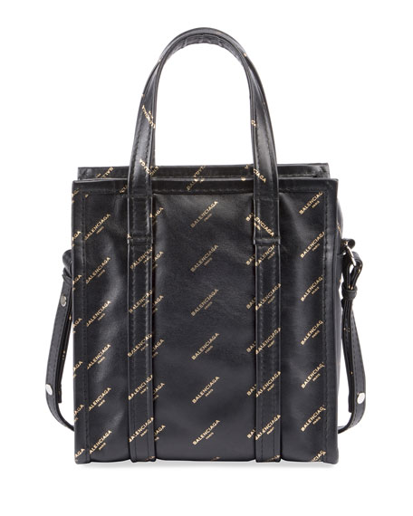 Balenciaga Bazar Shopper AJ XS Tote Bag, Black/Gold