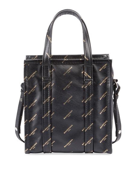 Balenciaga Bazar Shopper AJ XS Tote Bag, Black/Gold