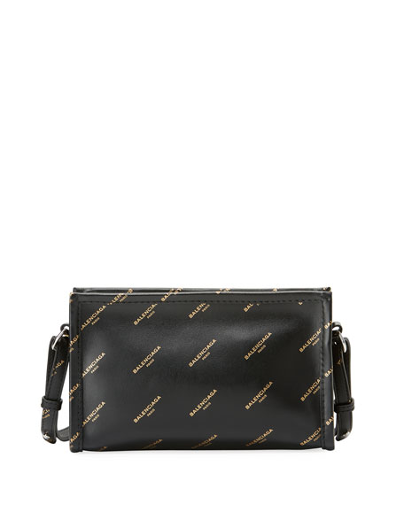Balenciaga Bazar printed leather shoulder bag