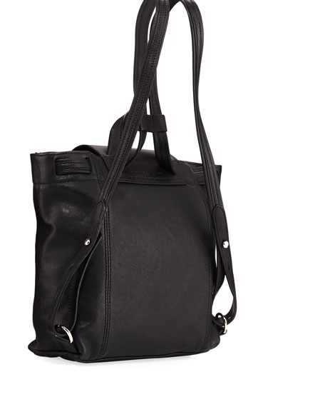 Le Pliage Cuir Flap Backpack