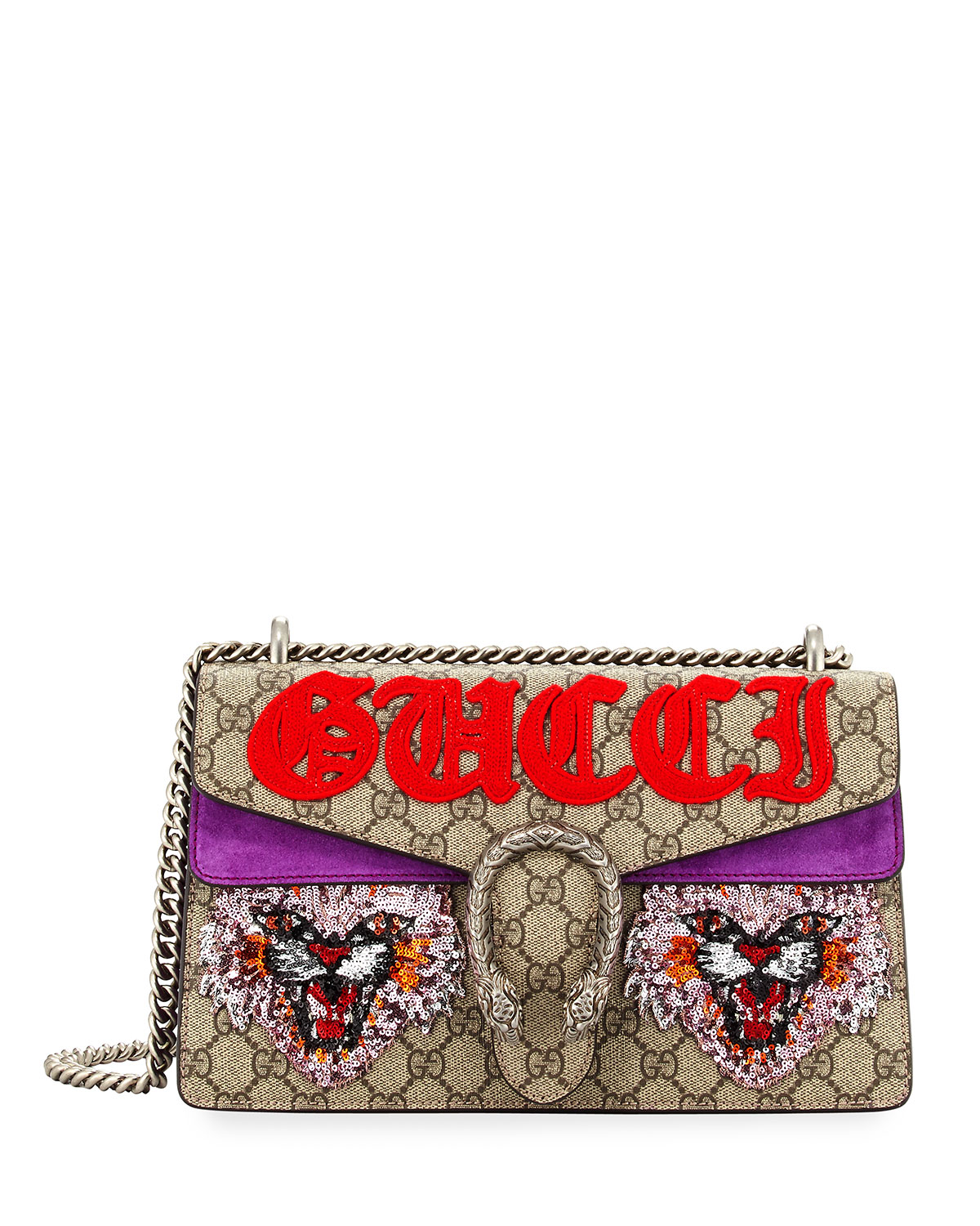 ae0d7d83ae3a42 Gucci Dionysus Small Angry Cat Shoulder Bag | Neiman Marcus
