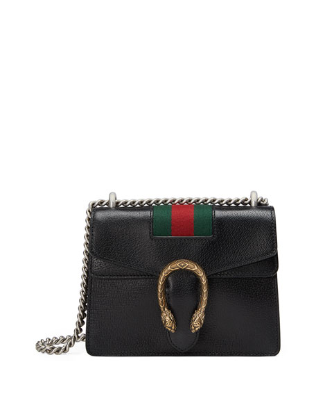 Gucci Dionysus Small Chain Crossbody Bag, Black