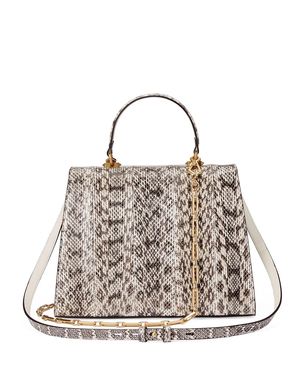 67f3c463a4 Gucci Osiride Future Snakeskin Top Handle Bag | Neiman Marcus