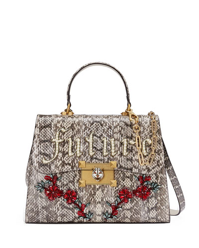 Iside Future Snakeskin Top Handle Bag