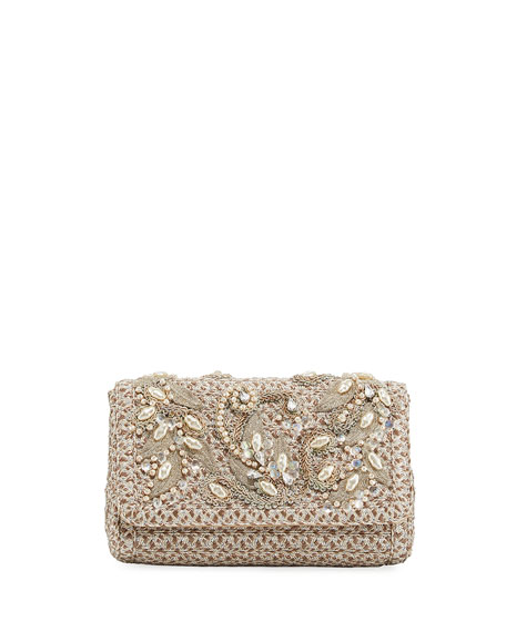 Eric Javits Devina Embellished Small Clutch Bag