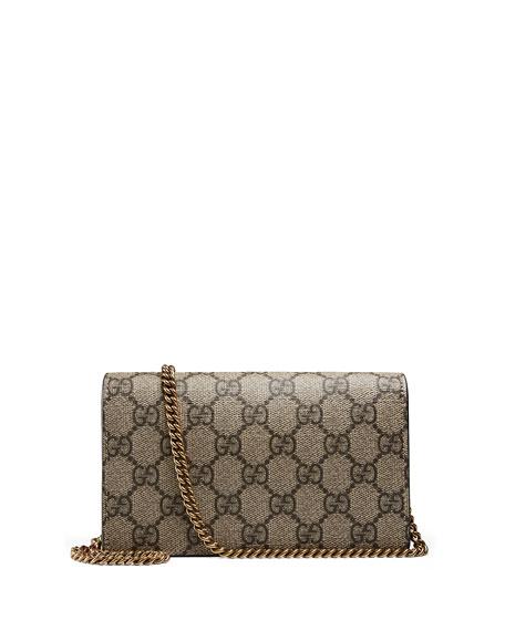 Mini GG Supreme w/ Cherry Shoulder Bag, Beige