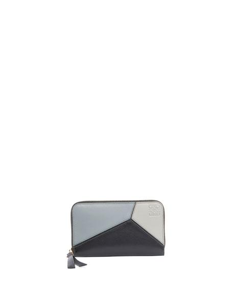 Puzzle Medium Colorblock Zip-Around Wallet