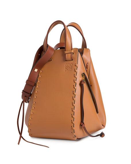 Loewe Solid Large Leather Hammock Bag