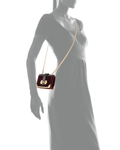 Cahier Micro Velvet Crossbody Bag