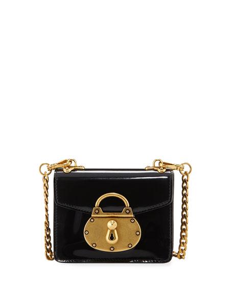 Prada Micro Spazzolato Lock Bag