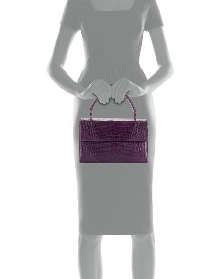 Medium Double-Gusset Crocodile Bag