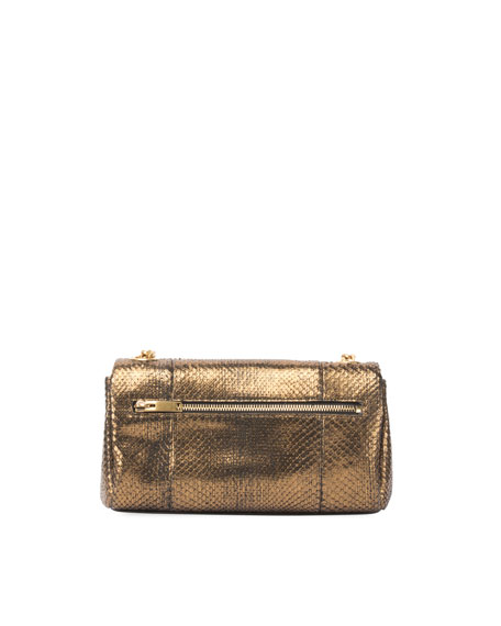 West Hollywood Monogram Small Python Shoulder Bag