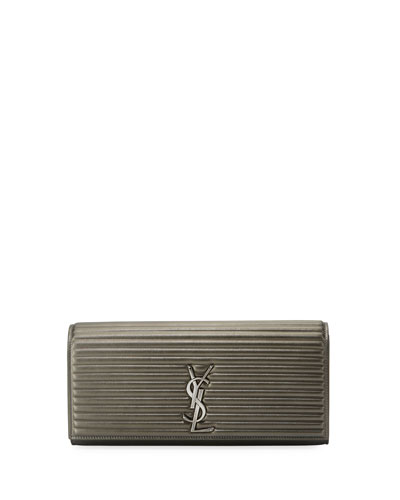 Kate Monogram Quilted Clutch Bag