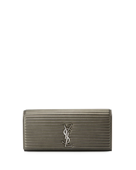 Saint Laurent Kate Monogram Quilted Clutch Bag