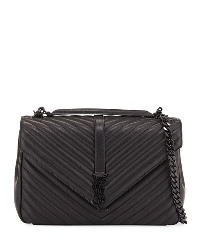 Monogram College Large Chain Shoulder Bag