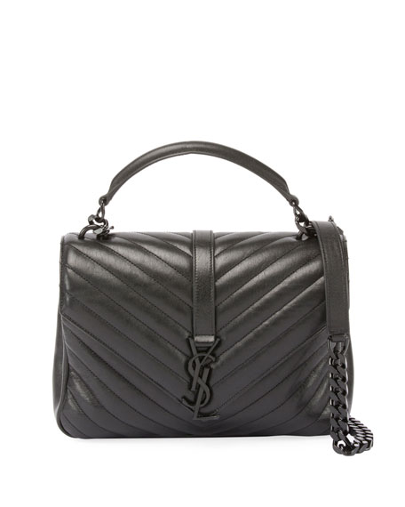 Saint Laurent Monogram College Medium Shoulder Bag, Black