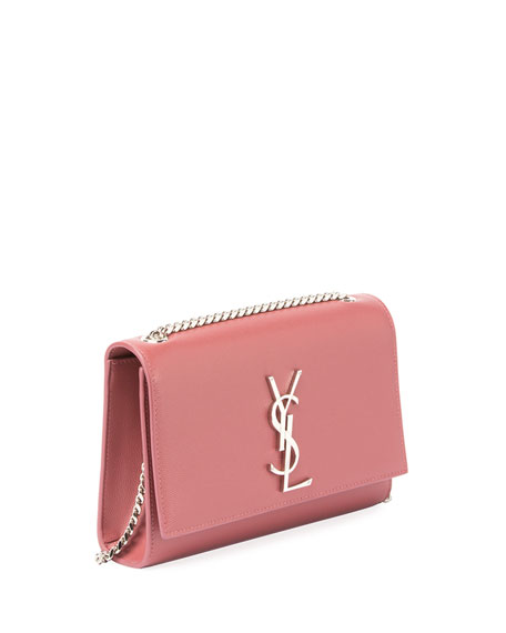 Kate Monogram YSL Medium Grain Leather Wallet on Chain