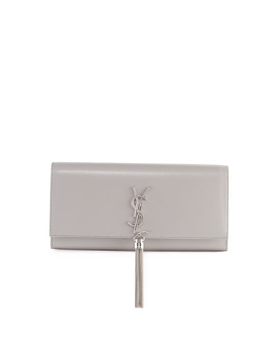 Monogram Kate Smooth Leather Tassel Clutch Bag