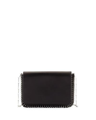 Classic Sleek Whipstitch Shoulder Bag, Black