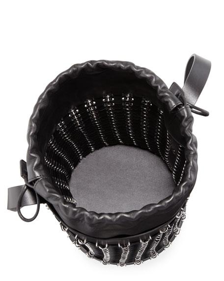 14#01 Drawstring Chain-Link Bucket Bag