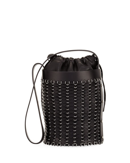 14#01 Drawstring Chain-Link Bucket Bag