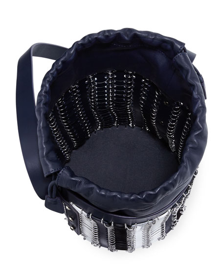 14#01 Chain-Link Mini Bucket Bag, Blue