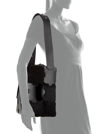 1601 Patchwork Medium Hobo Bag, Black