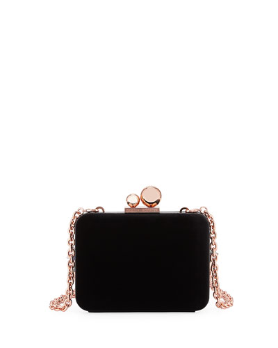 Vivi Glacia Velvet Box Clutch Bag