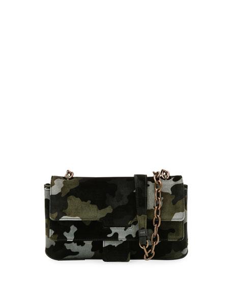 New Aragon Camouflage Velvet Crossbody Bag
