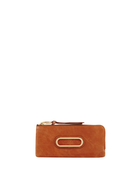 Long Leather Zip Wallet