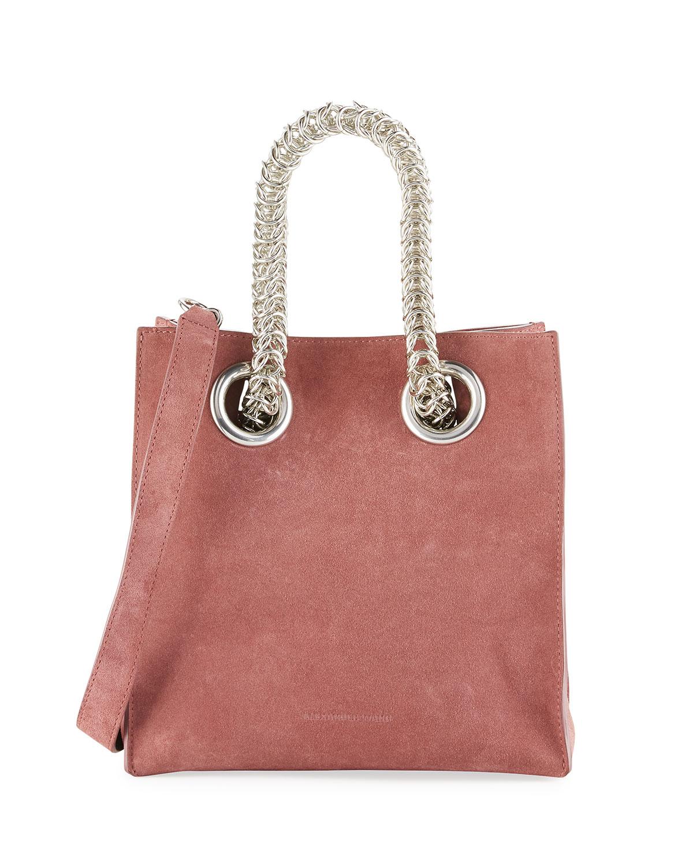 Genesis Suede Chain Handle Tote Bag