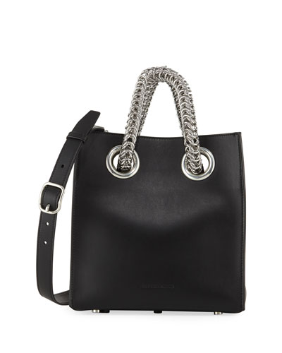Genesis Leather Chain-Handle Tote Bag