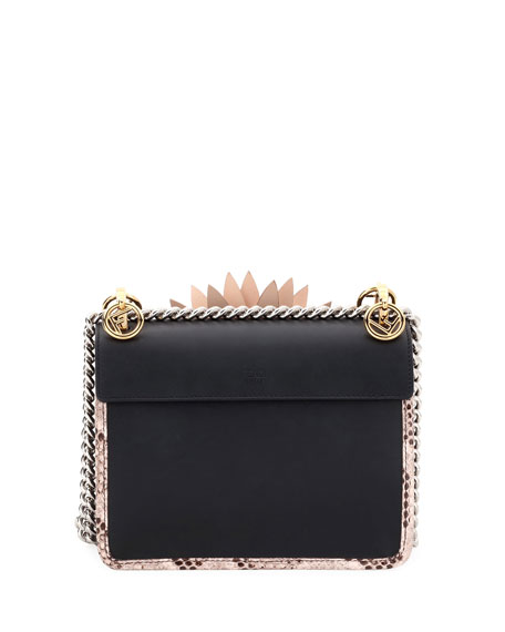 Kan I Small Leather Python Shoulder Bag
