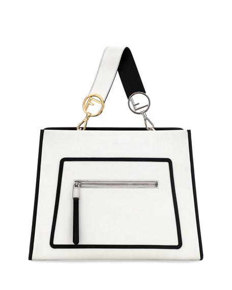 Fendi Runaway Medium Two-Tone Leather Tote Bag