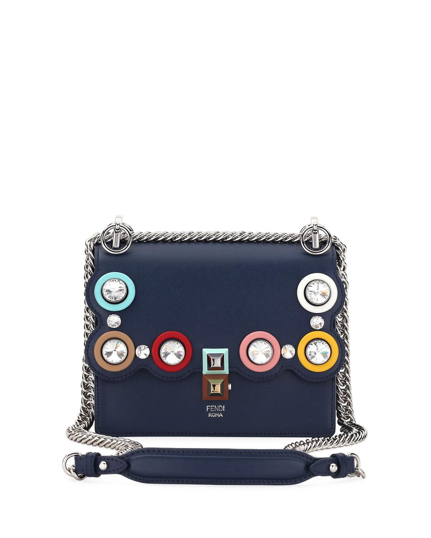 b863aac494 Fendi Kan I Mini Embellished Crossbody Bag | Neiman Marcus
