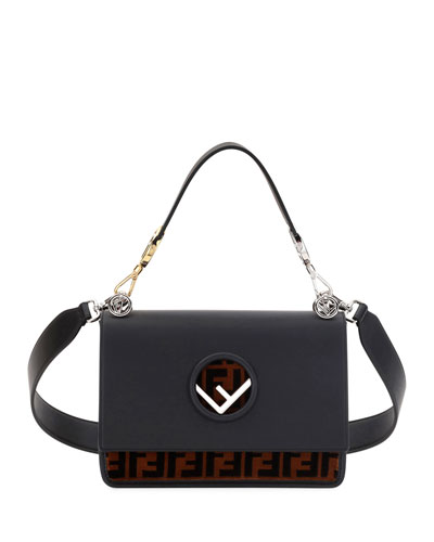 Fendi Kan I Logo Seal Small Shoulder Bag