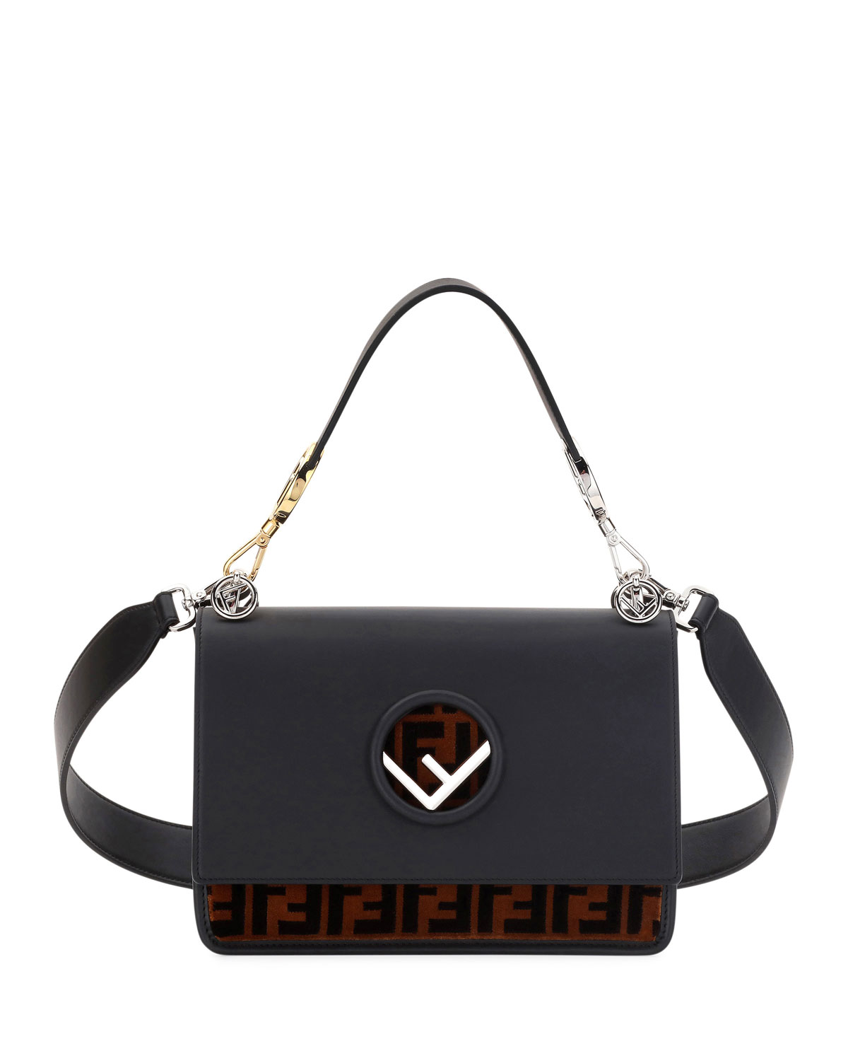 Fendi Kan I Logo Seal Small Shoulder Bag  32e095386b61a