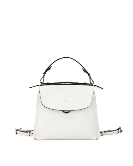 Fendi Back to School Leather Backpack/Crossbody Bag