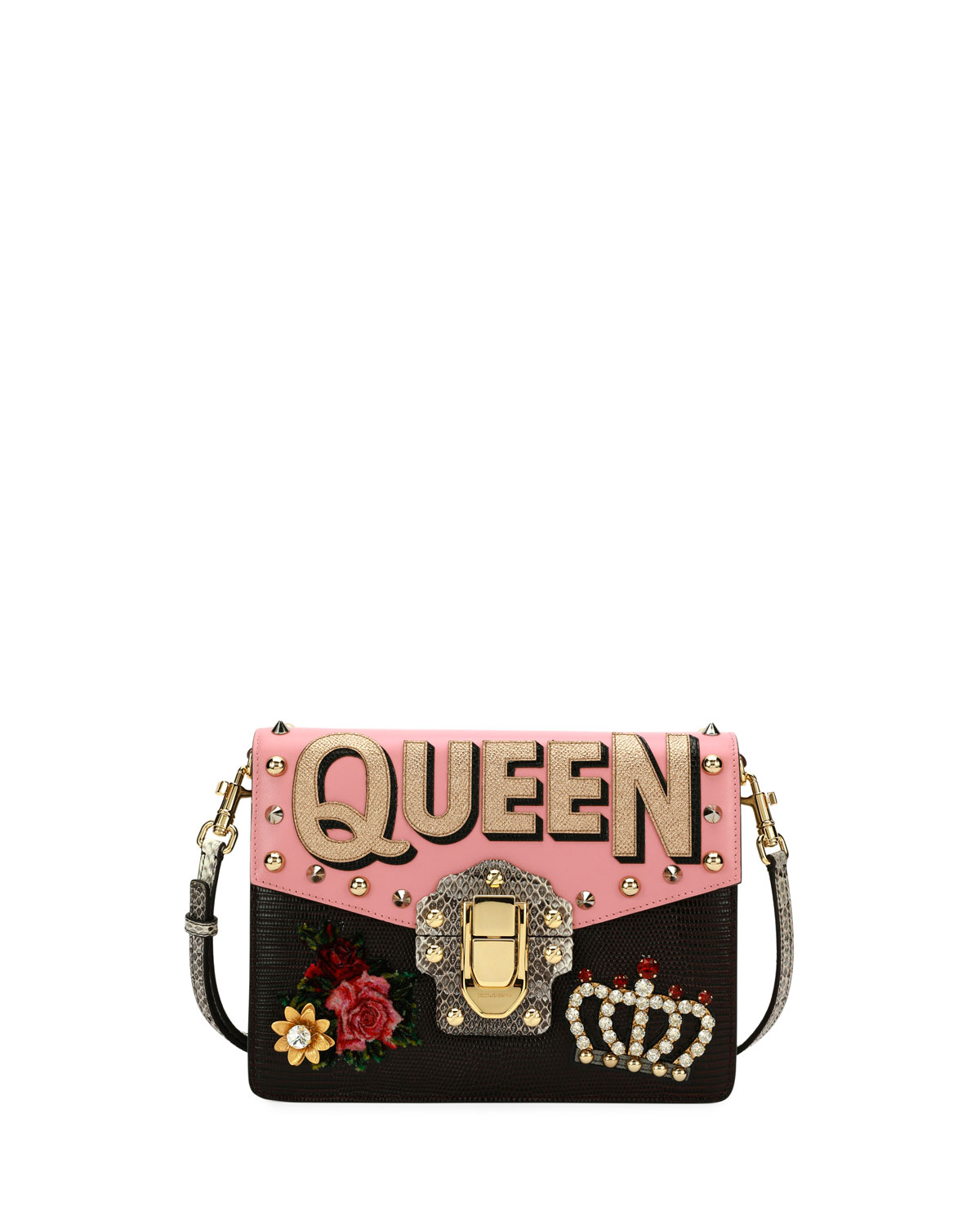 Dolce   Gabbana Lucia Queen Embellished Shoulder Bag  b6a9cb4556f47