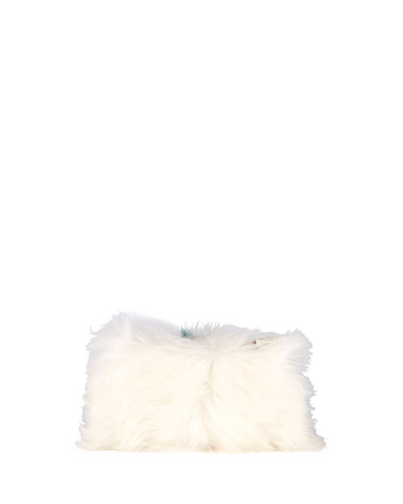Furry Eye Shearling Fur Clutch Bag