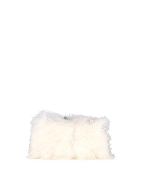 Furry Eye Shearling Fur Clutch Bag