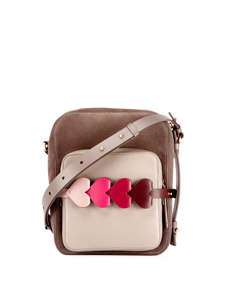 Anya Hindmarch The Stack Camera Bag with Heart