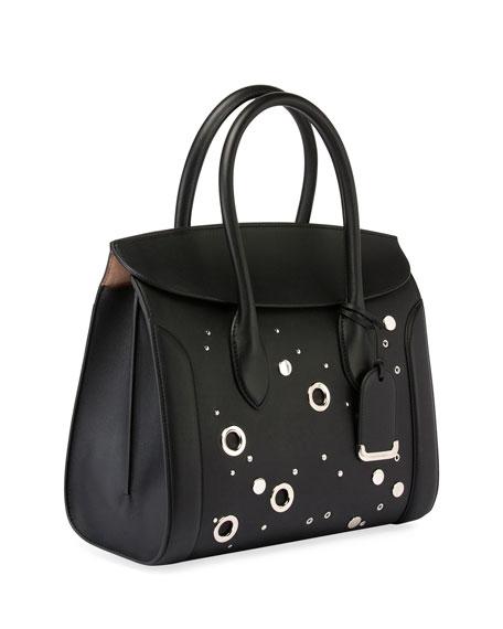 Heroine 35 Studded Leather Shopper Tote Bag, Black
